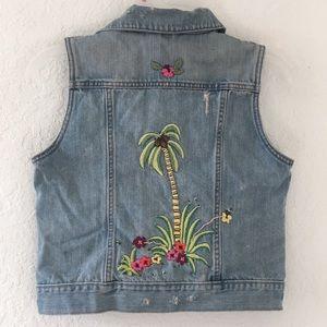 GAP Jackets & Coats - Girls Gap Vest Jeans Jacket size XXL 14-16